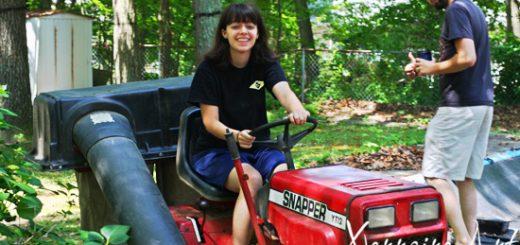 Laura doing chores