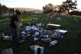 Fort Mason park in San Francisco after last years Earth Day festivities