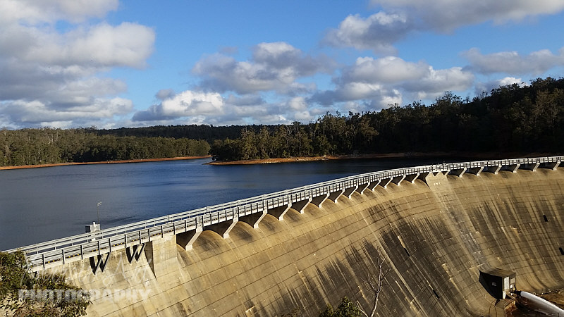 The dam was constructed in 1933 and enlarged in 1956,  and the power station was built in the 1950s.