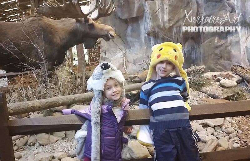 Apparently the first thing the children had to do was get their photo taken with a moose.