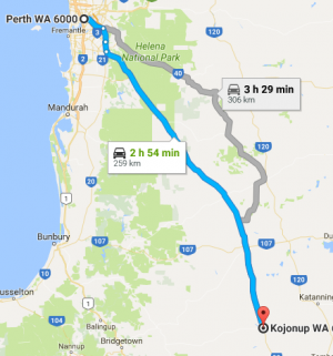 Map to Kojonup