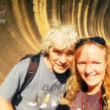 Barb and John at Wave rock