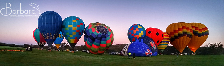 A line of balloons