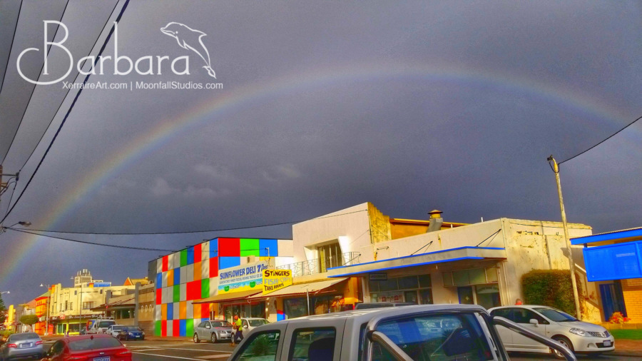 rainbow over geraldton