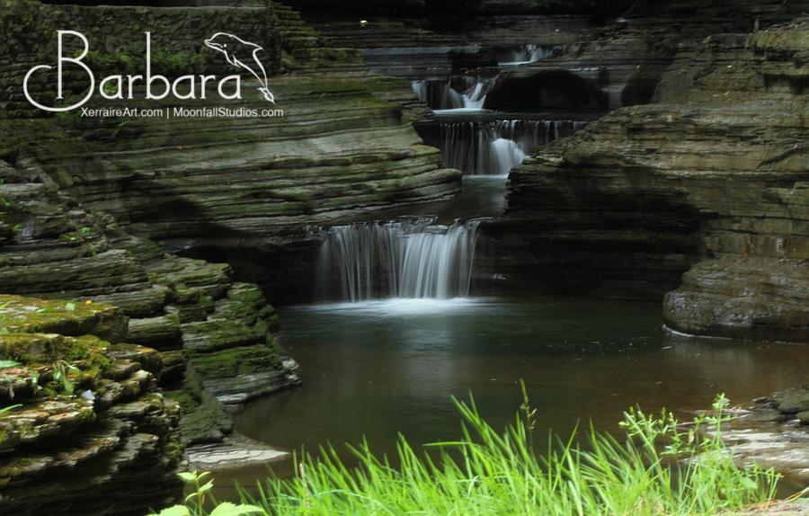 Hard to reach waterfall.