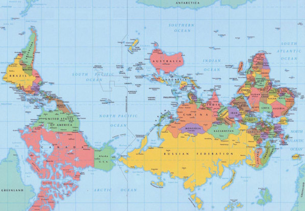 Maps and the worlds population barbs blog australia is the center of the world sciox Images