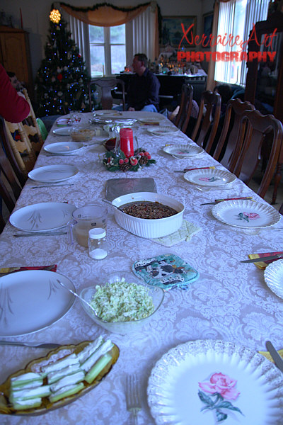 Our very large table.