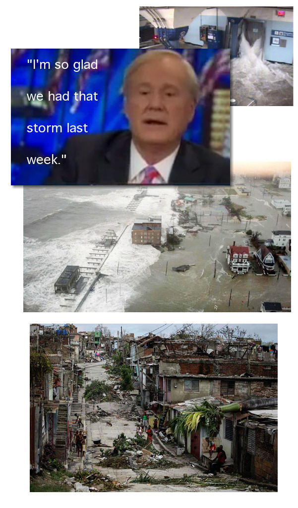 Hurricane Sandy is something Chris Matthews is glad about