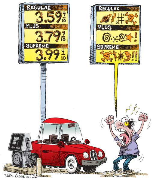 Bush High Gas Prices Bad, Obama High Gas Prices Good?