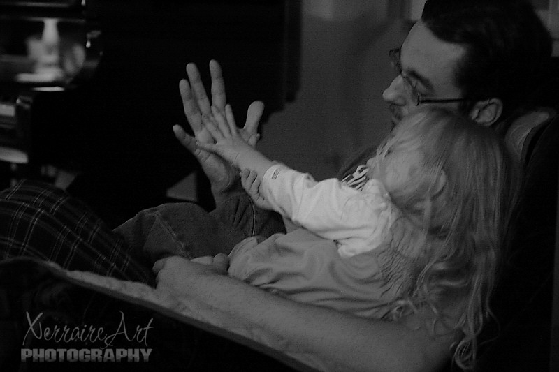 Hands with Daddy