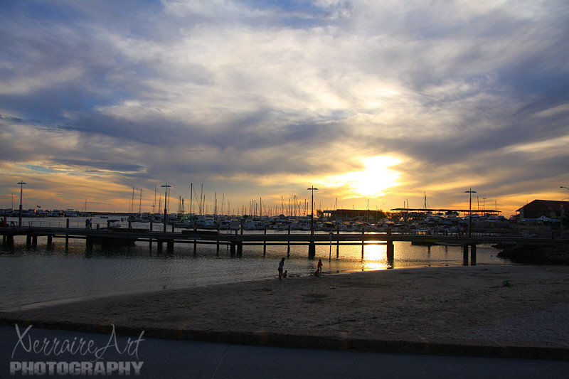 Hillarys Boat Harbor Sunset