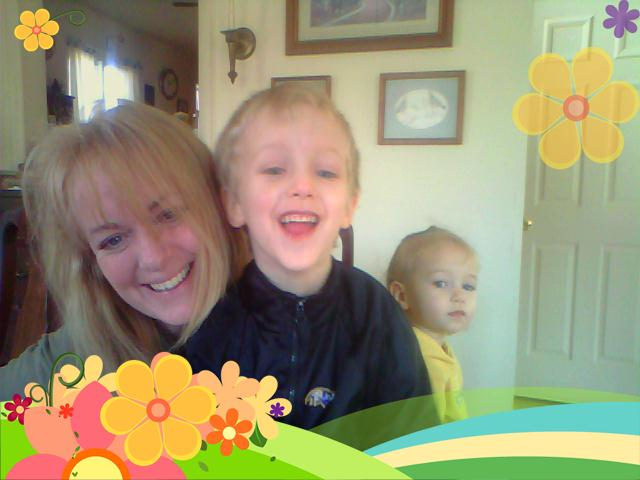 Webcam Fun with Silas and Rubi
