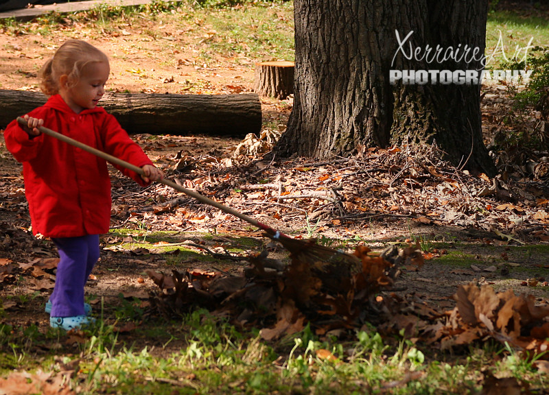 Kids, Leaves, and Rakes Equals Fun