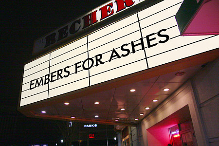 Last night Embers for Ashes played Recher Theater. This was my third time seeing them at this venue. All the shows there have been very good, but last night