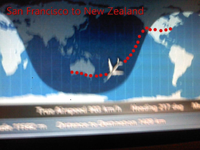 San Francisco to New Zealand