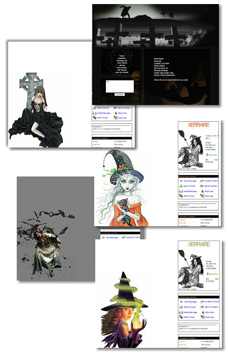 Halloween MySpace Layouts