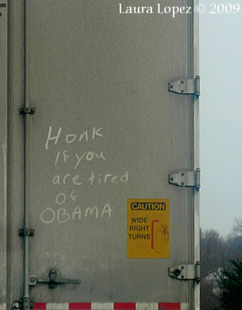 Honk if you are tired of Obama