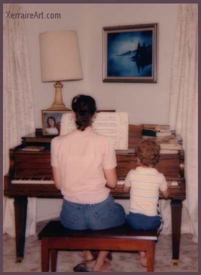 Mother and Son at the Piano