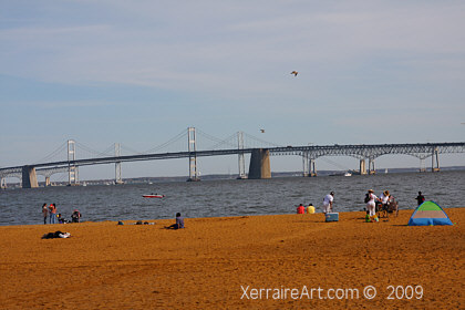 Sandy Point State Park and the Bay Bridge