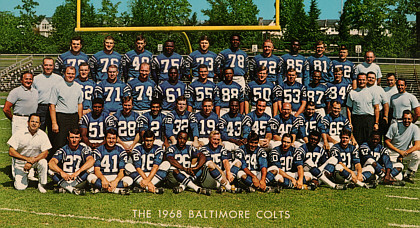 Baltimore Colts 1968 and 1970
